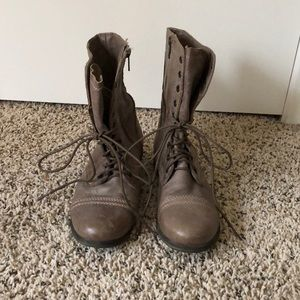 Steve Madden Lace-Up Combat Boots